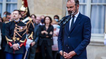 Weggebonjourde Franse premier Philippe weer  als burgemeester geïnstalleerd