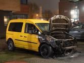 Bestelwagen brandt uit in Woerden