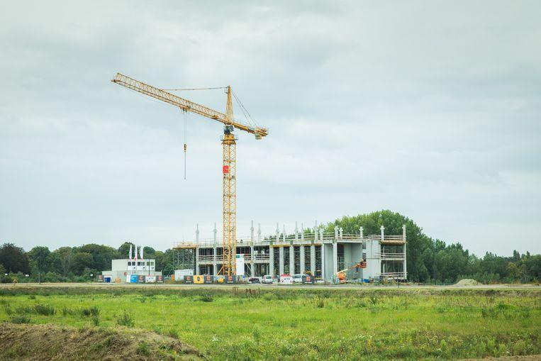 Het onderzoeksgebouw CAPTURE van de UGent is één van de opvallende spelers op het nieuwe bedrijventerrein op Eiland Zwijnaarde.