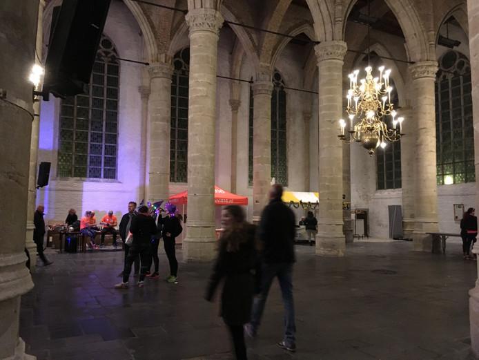 De Grote Kerk, na afloop van het evenement.
