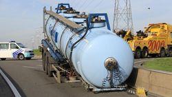 Vrachtwagen verliest tank met 26.000 liter chloor in Waaslandhaven