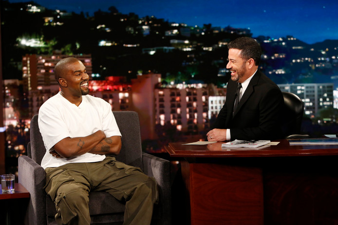 Kanye West en Jimmy Kimmel.