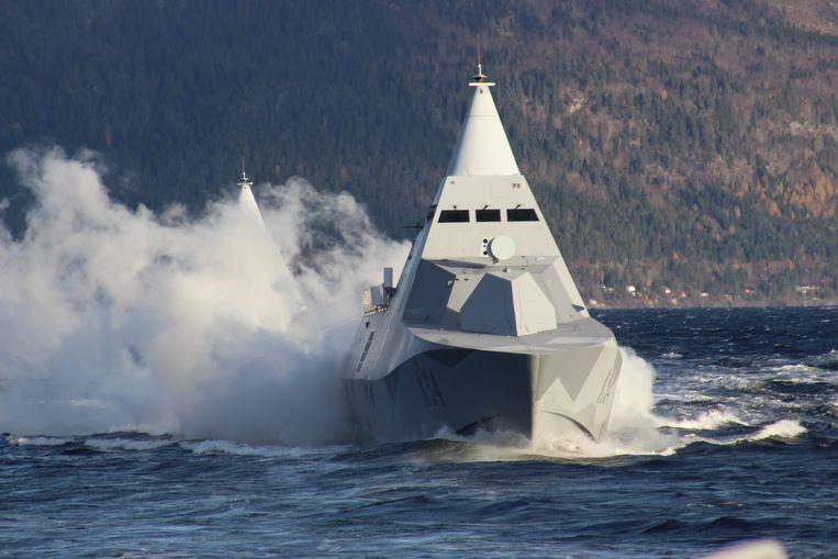 Indrukwekkend militair materiaal (maar niet Belgisch): een Zweedse corvette