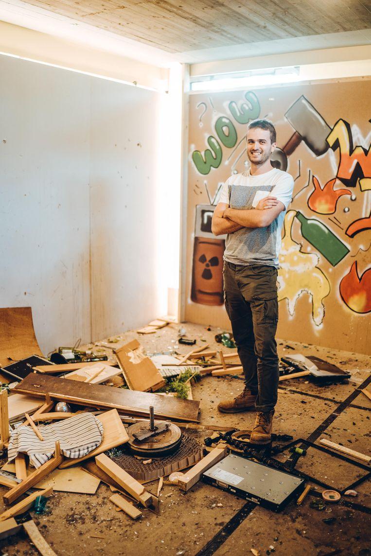 Michaël Bernaert, eigenaar van Wreck It. Beeld Thomas Sweertvaegher