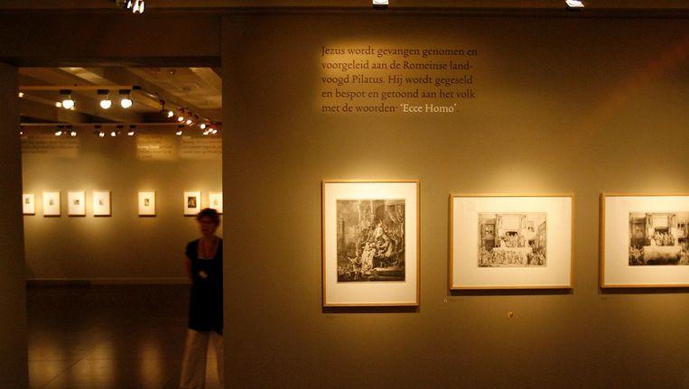 Tentoonstelling 'Rembrandt en de Bijbel' in het Bijbels museum. Beeld anp