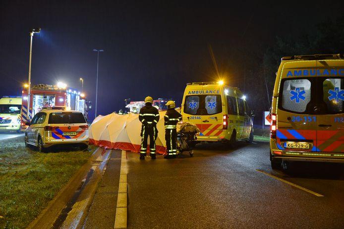 Dodelijk ongeluk op de Midden-Brabantweg in Tilburg.