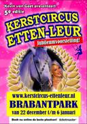 De poster waarmee het circus de lustrumeditie aankondigt.