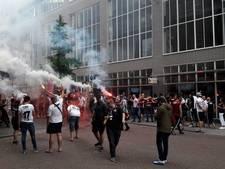 Rotterdamse fans Besiktas klaar voor kampioenswedstrijd