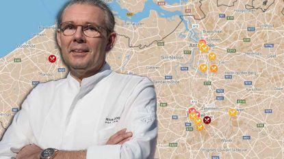 IN KAART: Dit zijn volgens Gault&Millau de beste restaurants in uw provincie