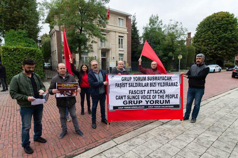 Protest voor Turks conculaat