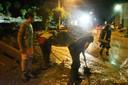 De Italiaanse provincie Lecco werd getroffen door een hevige golf van slecht weer.