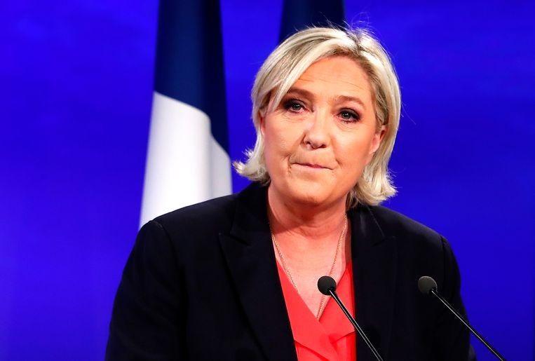 Front National-leidster Marine Le Pen. Beeld EPA