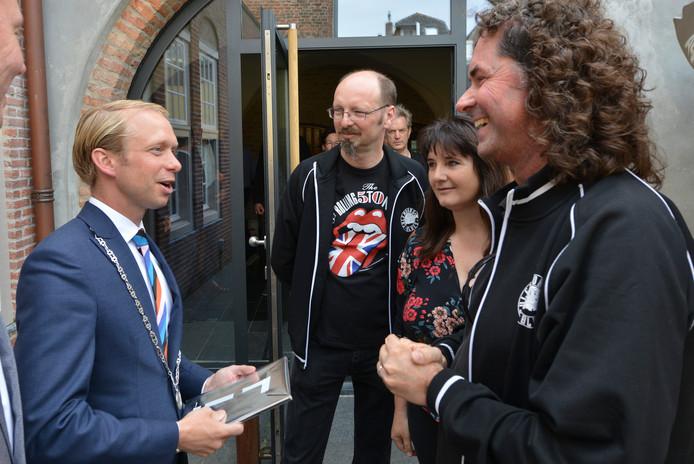 Leden van Culemborg Blues maken kennis met de nieuwe burgemeester van Culemborg.