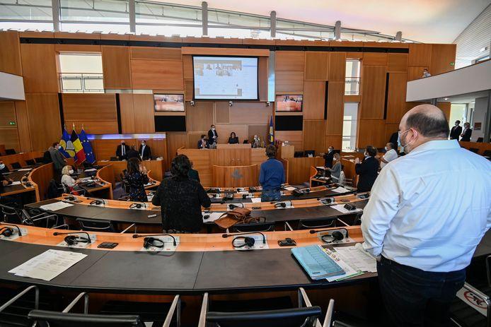 Het Brussels parlement tijdens de openingszitting afgelopen maand.