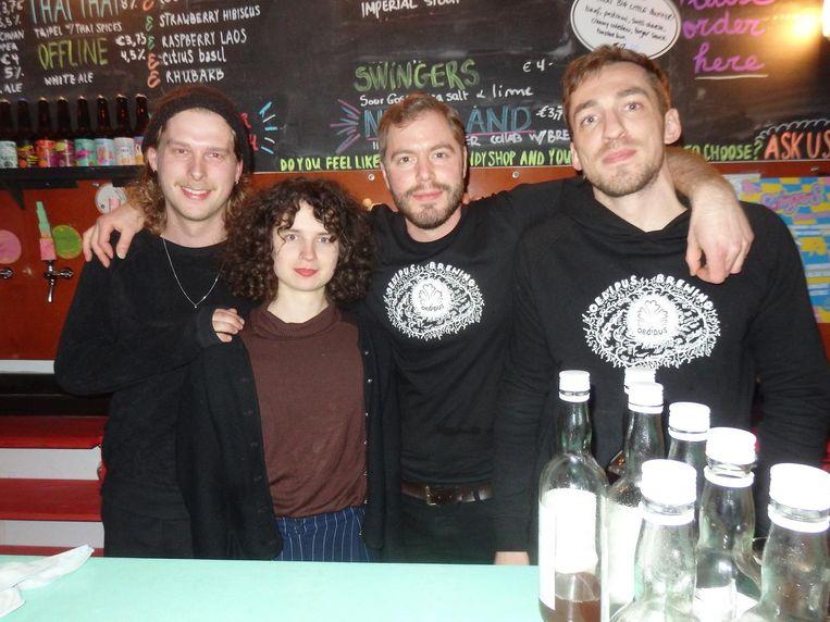 Team Oedipus: Mark Hijlkema, Luca Bruls, Tom Bosselaar en Sam Buunk Beeld Schuim