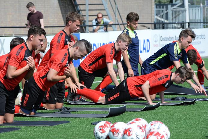 De eerste training van Helmond Sport.