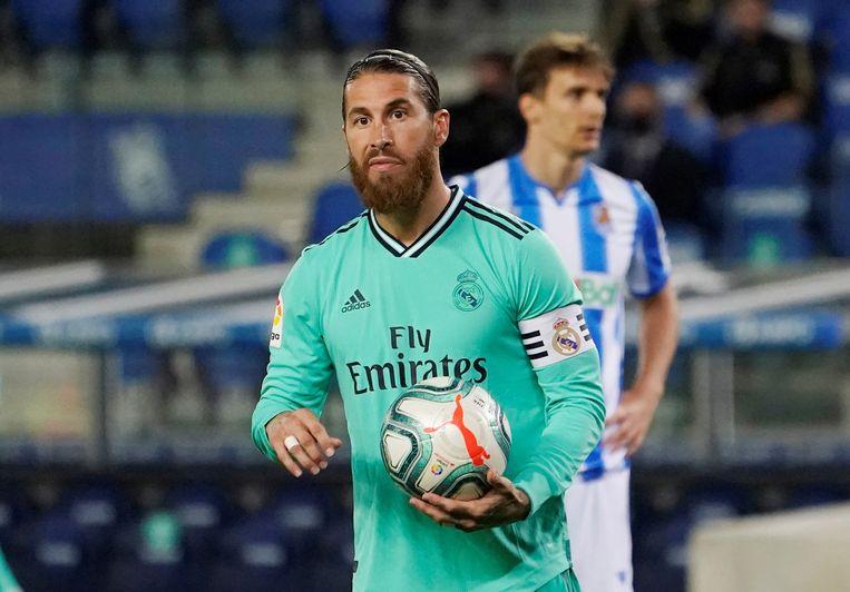 Sergio Ramos scoorde met een penalty tegen Sociedad.