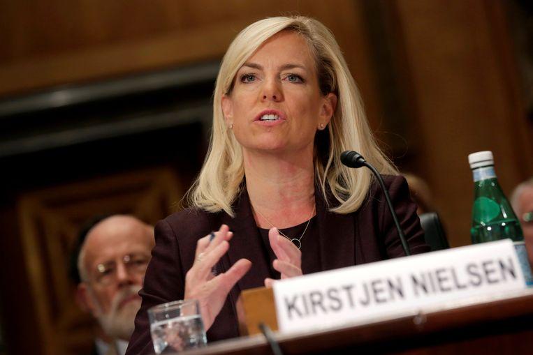 Kirstjen Nielsen is de nieuwe minister van Binnenlandse Veiligheid.