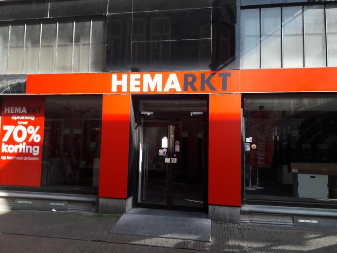 Het voormalige pand van de Blokker wordt op dit moment ingericht als outletstore van de Hema.