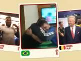 WK Bytes: Blinde fan Brazilië viert doelpunt