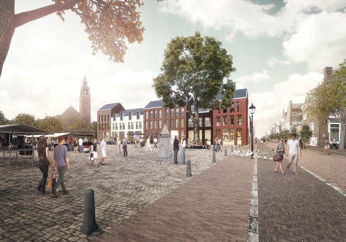 Impressie van de nieuwbouw Molenstraat/Markt/Doelstraat in Zevenbergen die al in 2015 werd gemaakt.