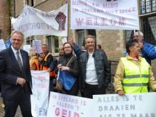 Campinggasten protesteren: 'Wij willen niet wijken voor het grootkapitaal'