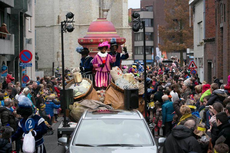 Een beeld van de Sinterklaasparade in Roeselare.