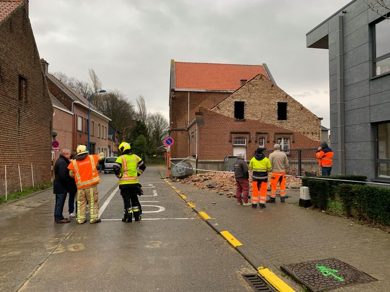 Gemeentelijke basisschool 't Mierken Beigem - gevel ingestort - Grimbergen