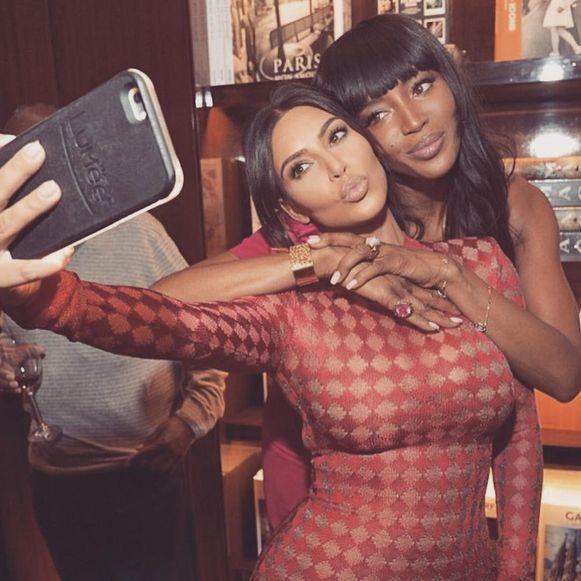 Kim Kardashian West en Naomi Campbell.