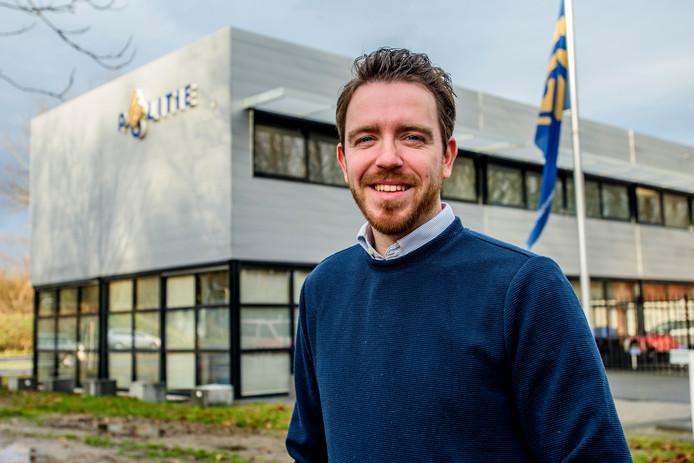 Koen Simmers, afdelingsvoorzitter van de politiebond NPB.