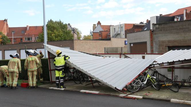 Rukwinden zorgen voor schade in regio Dendermonde