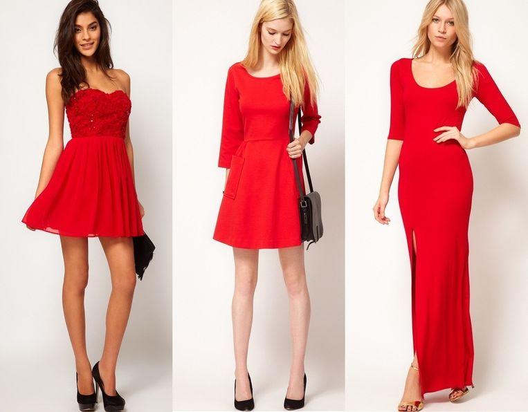 Zwart Met Rood Jurkje.Vergeet Het Zwarte Jurkje Deze Rode Versie Past Bij Jou Style