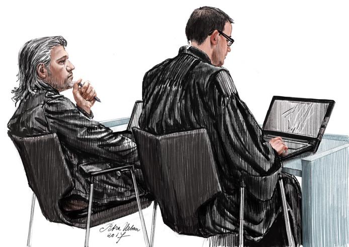 Aydin C. met zijn advocaat Robert Malewicz in de rechtbank.