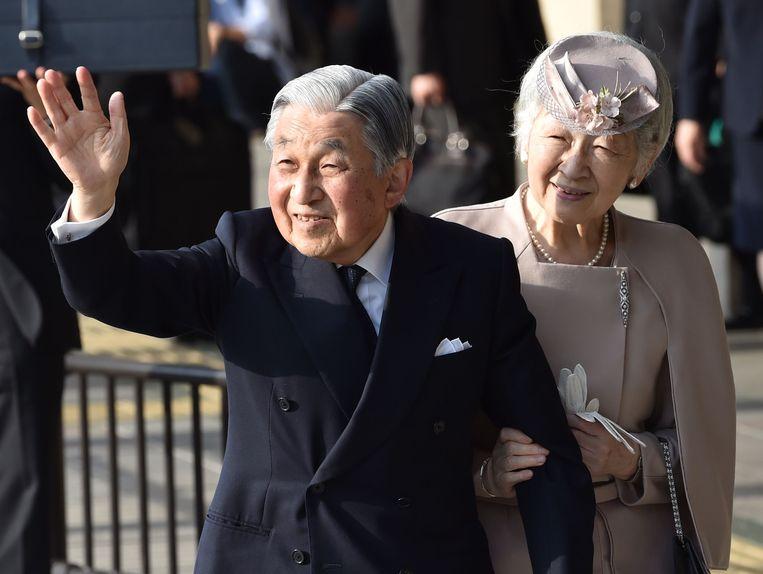 Keizer Akihito en zijn vrouw Michiko.