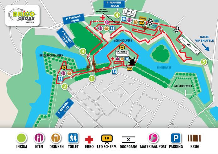 De plattegrond van de Vestingcross.