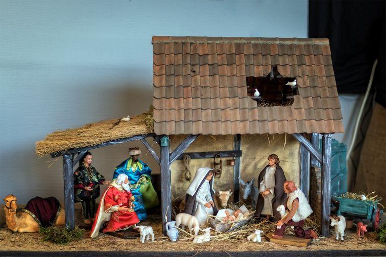 Een van de kerststallen van de voorbije jaren.