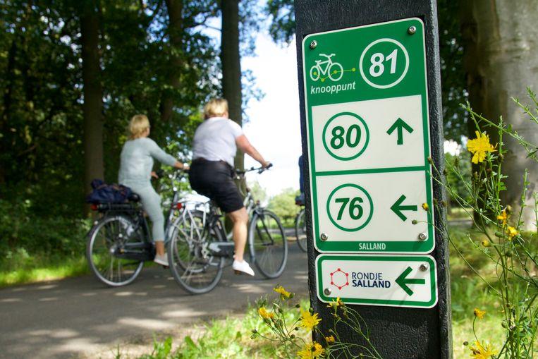 De route is eenvoudig te volgen dankzij de fietsknooppunten. Beeld
