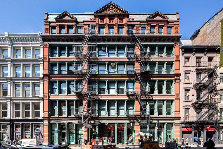Zo ziet het gebouw in Manhattan er langs de buitenkant uit.