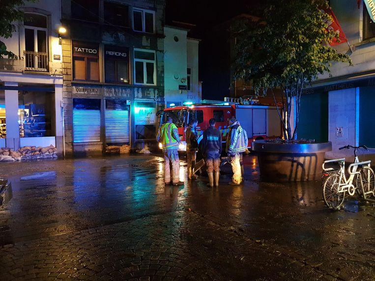 Woensdagavond was er opnieuw wateroverlast in het centrum van Halle.