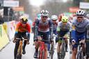 Jasper Stuyven van Trek-Segafredo tijdens de eerste etappe van Parijs-Nice.