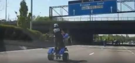 Motorrijders gebruiken Antwerpse Ring als stuntbaan