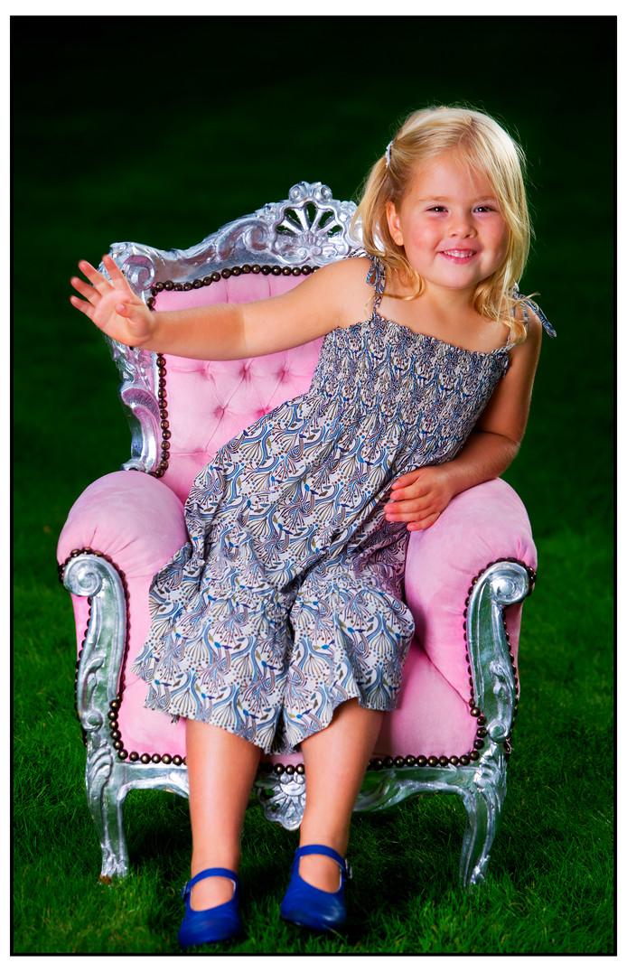 2008: in de koninklijke roze zetel.