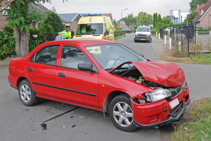 De auto van het beschadigde echtpaar.