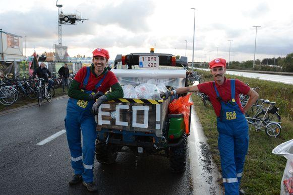 Het eco-team zag dit jaar opmerkelijk minder afval in de bermen liggen.