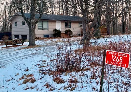Het huis in Barron, Wisconsin, waar Jayme Closs met haar ouders woonde.