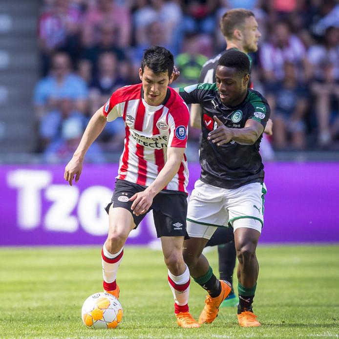Zeefuik jaagt op Hirving Lozano van PSV.
