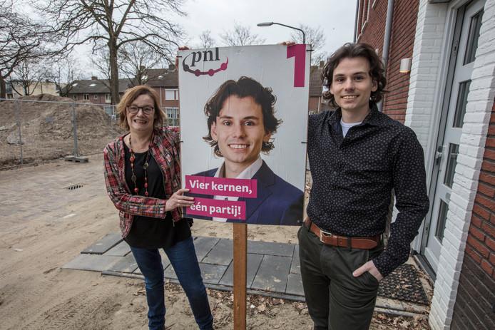 Ria van der Zanden en Bowen Straatman van PNL in Beek en Donk
