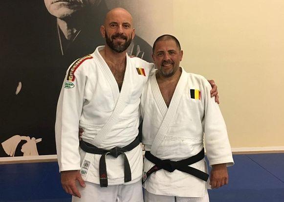 Michel Van Assel (links) met trainingspartner.