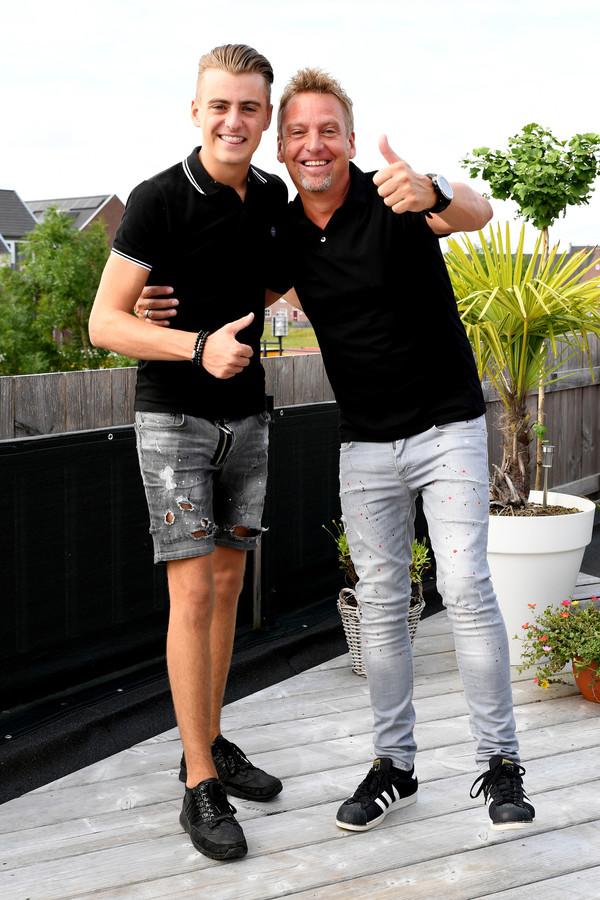 Vader en Zoon: Gerard (rechts) en Bram Koopmans. Gerard is bekend van De Gebroeders Ko. Zijn zoon Bram maakt furore als dj Nickelbass.
