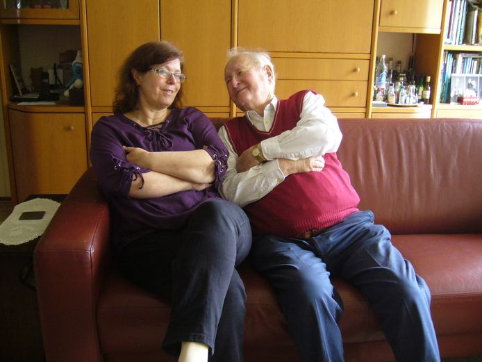 Harm Jager met zijn dochter Marja. Ze hadden een hechte band.